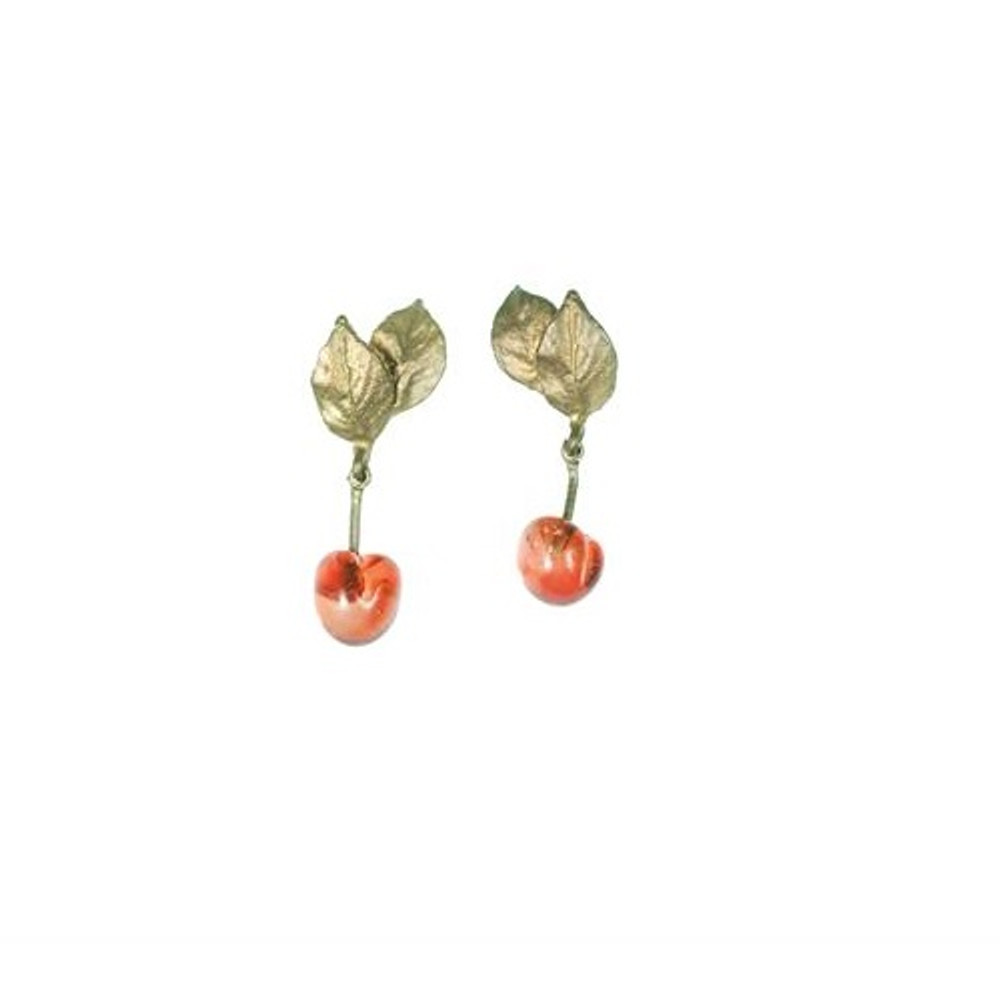 Morello Cherry Single Drop Earrings | Michael Michaud Jewelry | SS4538BZRG