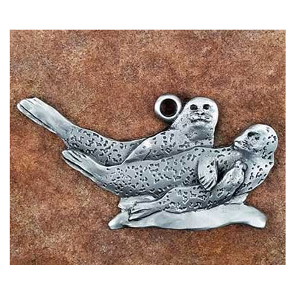 Harbor Seal Pewter Ornament | Andy Schumann | SCHHARBSEALORN