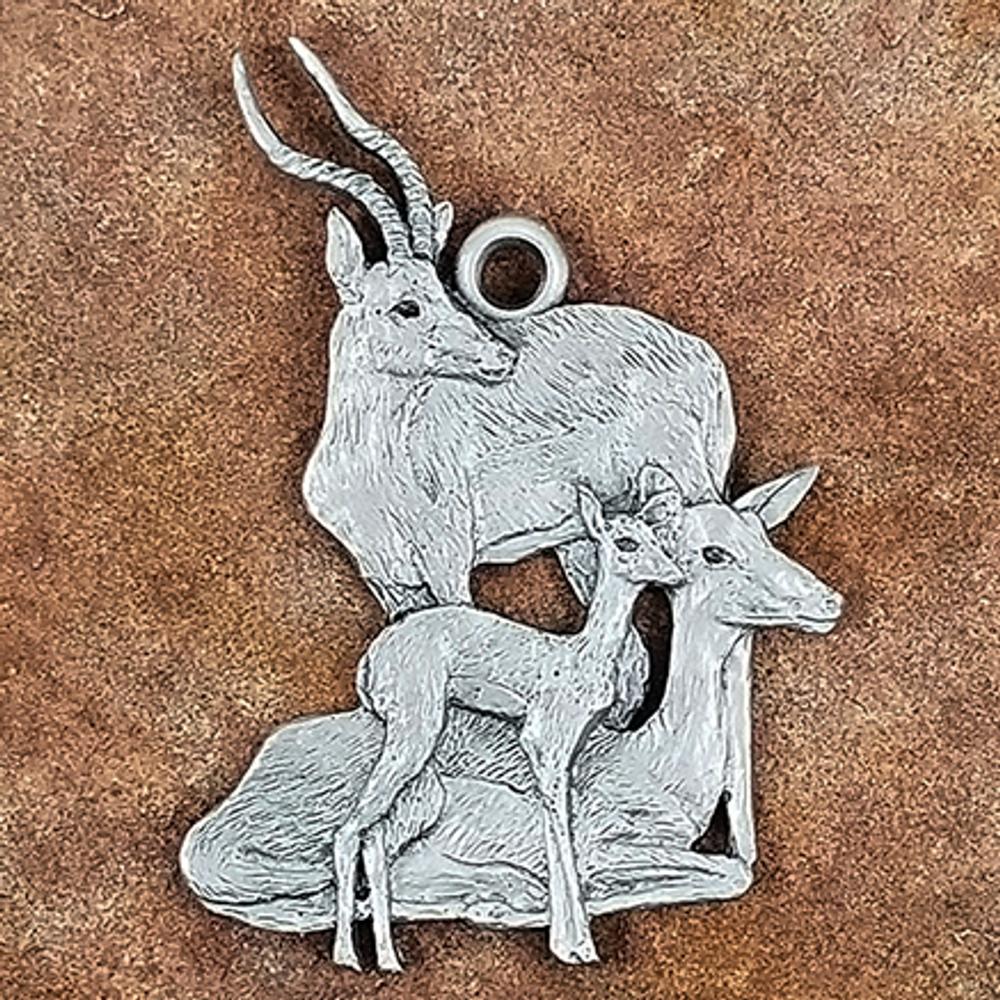 Impala Pewter Ornament   Andy Schumann   SCHIMPALAORN
