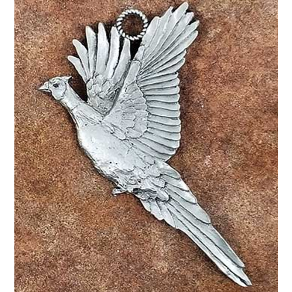 Pheasant Pewter Ornament | Andy Schumann | SCHPHEASORN
