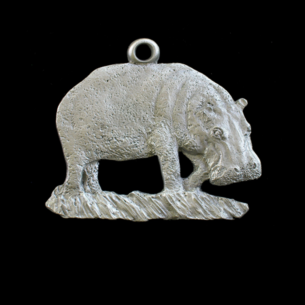 Hippo Standing Pewter Ornament   Andy Schumann   SCHHIPPO