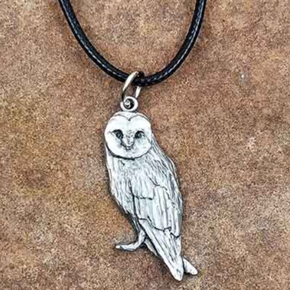 Barn Owl Pendant Necklace | Andy Schumann | SCHOWLPEND