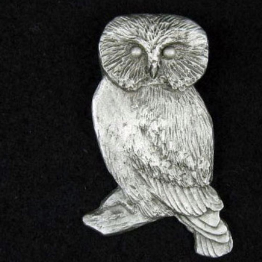 Owl Pewter Pin | Andy Schumann | SCHOWLPIN