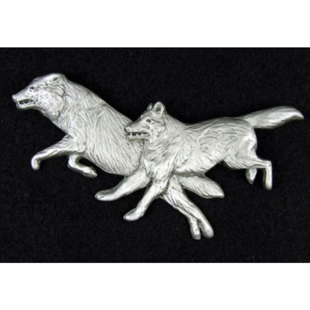 Wolf Pewter Pin | Andy Schumann | SCHWOLFPIN