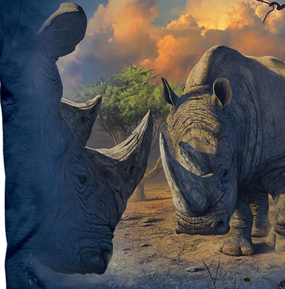 Rhino Standoff Unisex Cotton T-Shirt   The Mountain   106444   Rhino T-Shirt