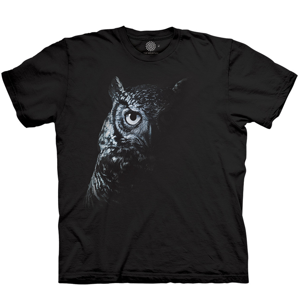 Shadow Owl Unisex Cotton T-Shirt | The Mountain | 106427 | Owl T-Shirt