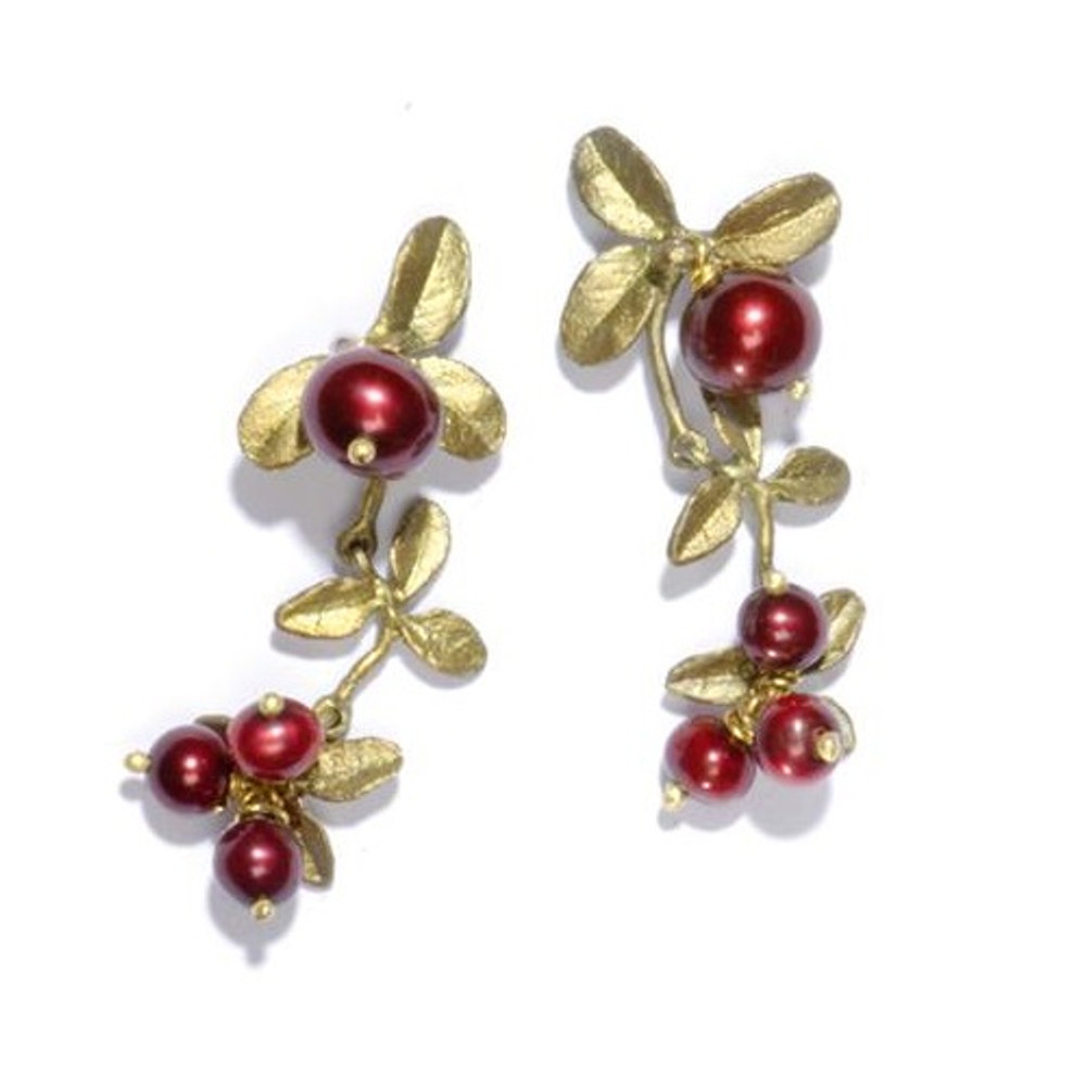 Cranberry Dangle Earrings | Michael Michaud Jewelry | SS4661bzcr