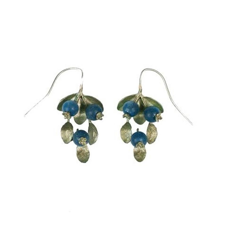 Blueberry Wire Drop Earrings | Michael Michaud Jewelry | SS4744bzbc