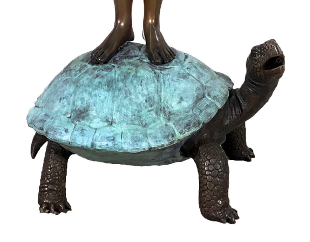 Boy on Turtle with Frog Bronze Fountain Statue | Metropolitan Galleries | SRB706545