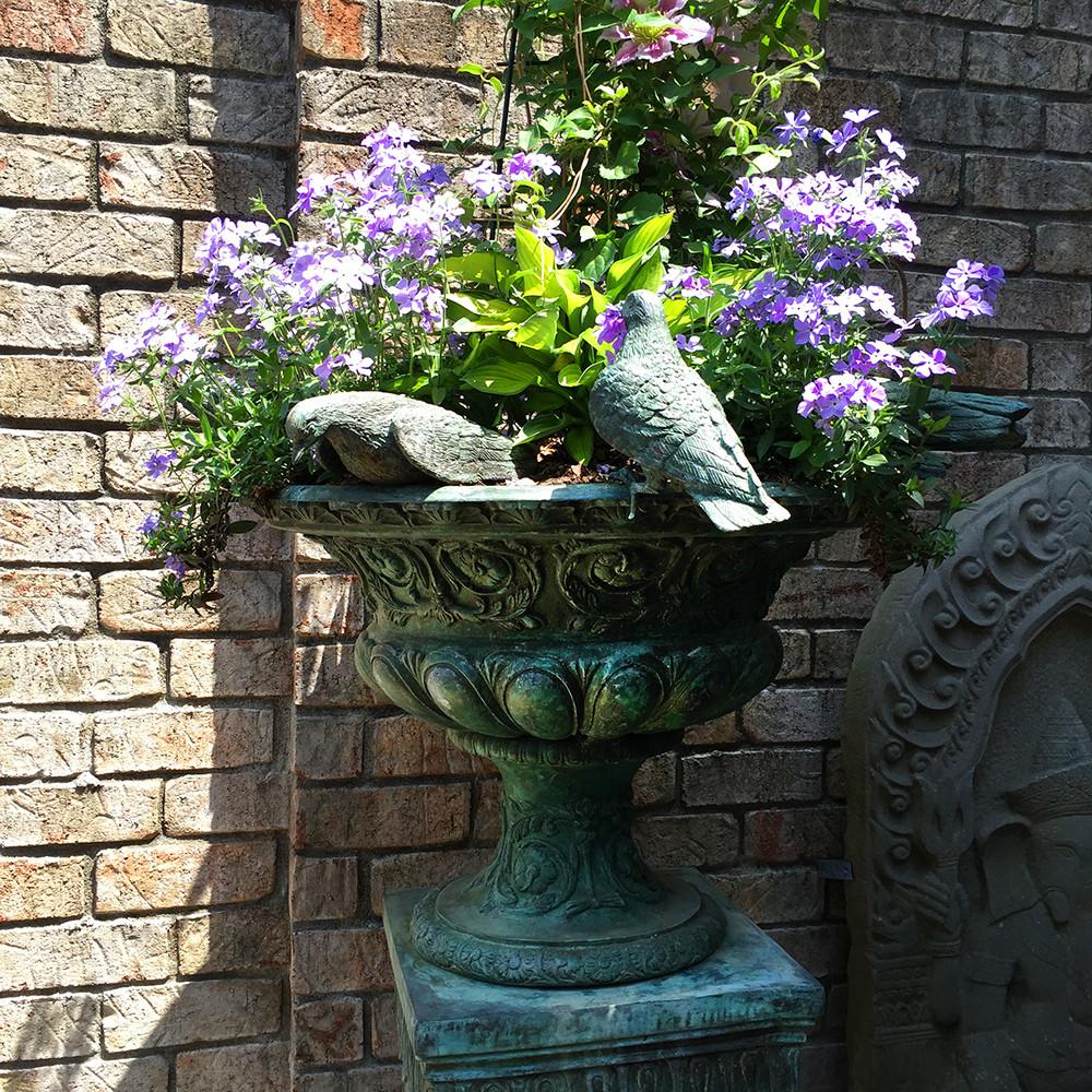 Seven Birds on Bowl Bronze Fountain Statue   Metropolitan Galleries   SRB42646
