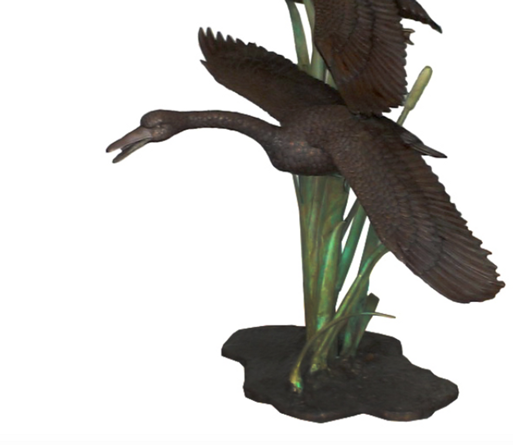 Two Flying Geese Bronze Fountain Statue | Metropolitan Galleries | SRB706526