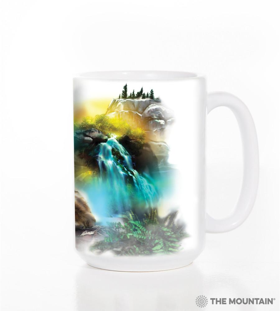 Wolf Lookout 15oz Ceramic Mug | The Mountain | 574978 | Wolf Mug