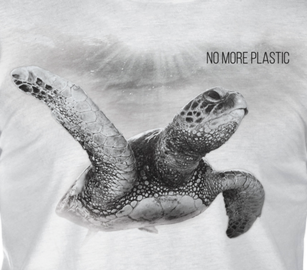 Sea Turtle Unisex Tri-Blend T-Shirt | No More Plastic | The Mountain | 545558 | Turtle T-Shirt