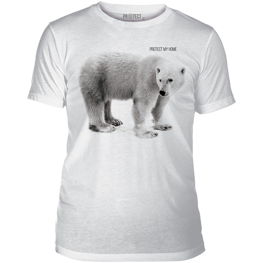 Polar Bear Protect Unisex Tri-Blend T-Shirt | The Mountain | 545554 | Polar Bear T-Shirt