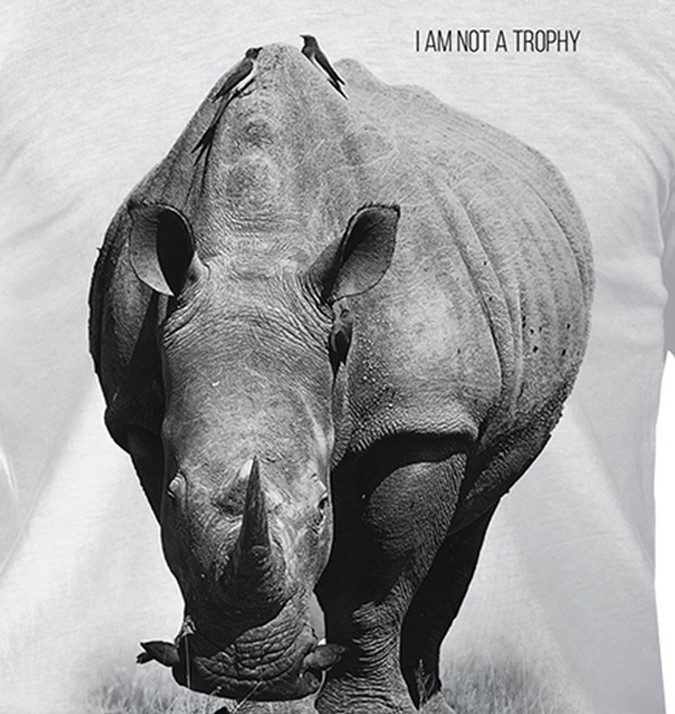 Rhino Not a Trophy Unisex Tri-Blend T-Shirt | The Mountain | 545552 | Rhino T-Shirt