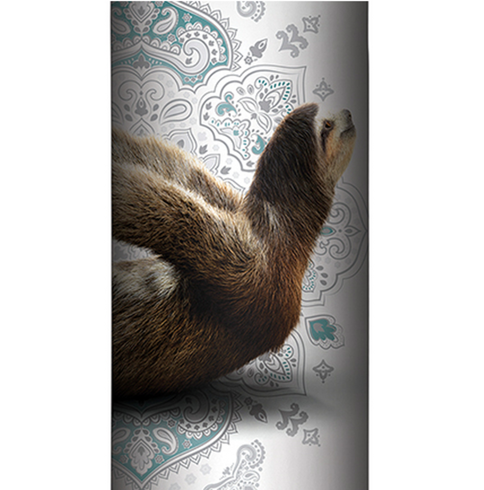 Stretching Sloth Gray Stainless Steel 17oz Travel Mug | The Mountain | 59648307481 | Sloth Travel Mug