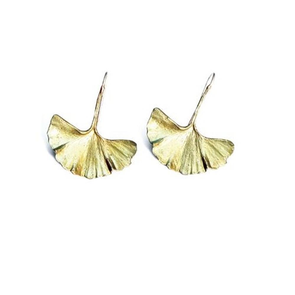 Ginkgo Earrings | Michael Michaud Jewelry | SS4803bz
