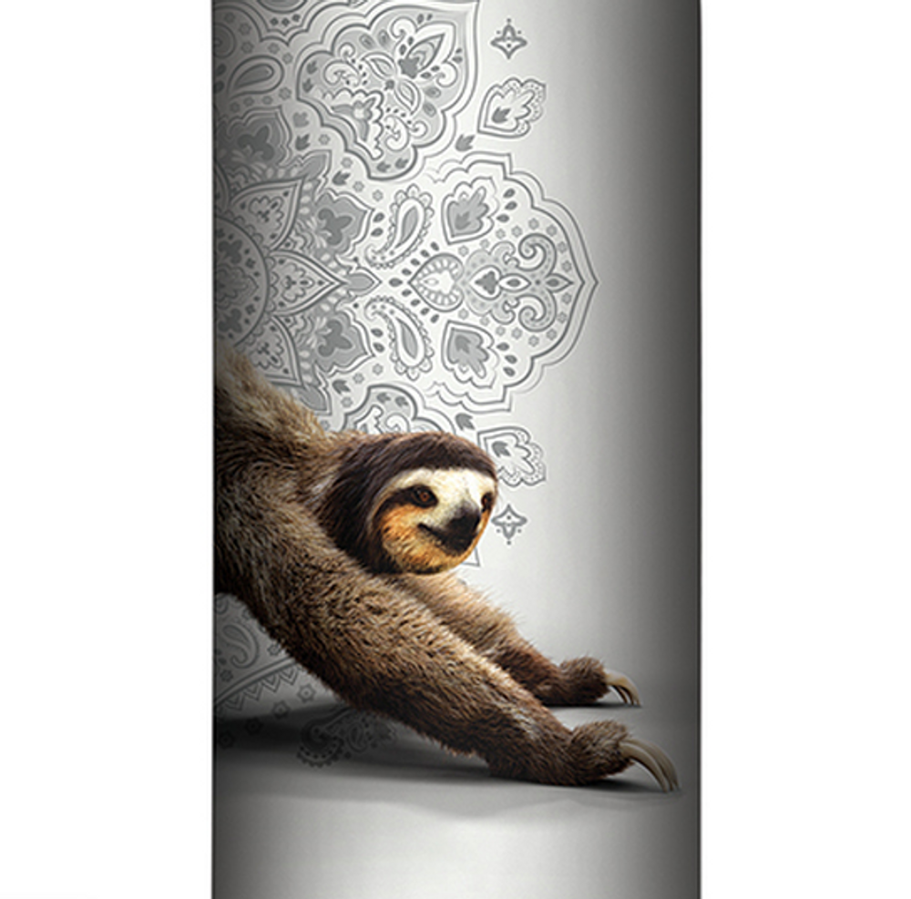 Downward Sloth Gray Stainless Steel 17oz Travel Mug | The Mountain | 59648107481 | Sloth Travel Mug