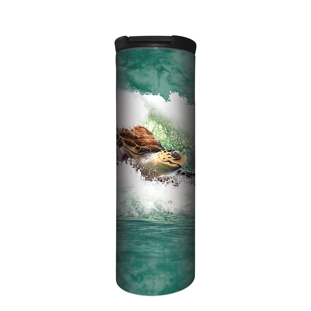 Surfin Sea Turtle Stainless Steel 17oz Travel Mug | The Mountain | 5964531 | Sea Turtle Travel Mug