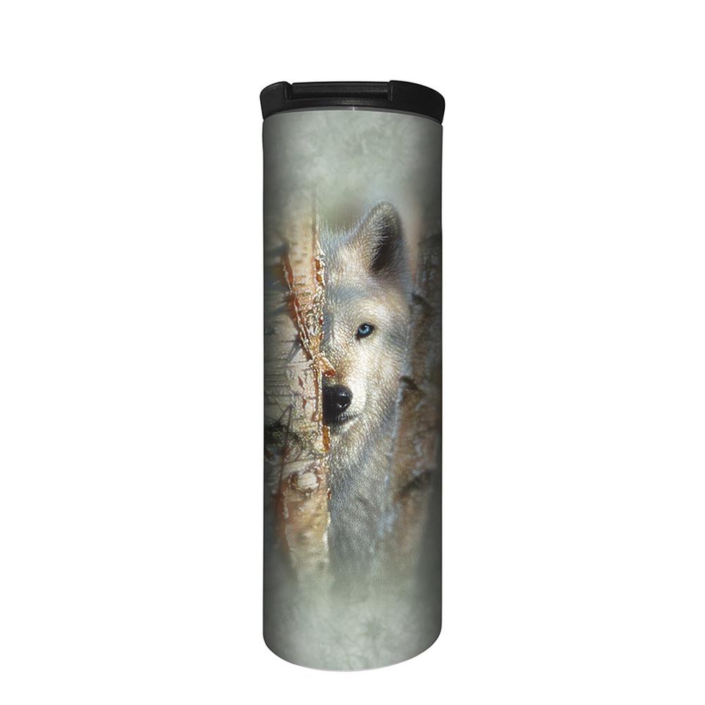 Focused Wolf Stainless Steel 17oz Travel Mug | The Mountain | 5964231 | Wolf Travel Mug