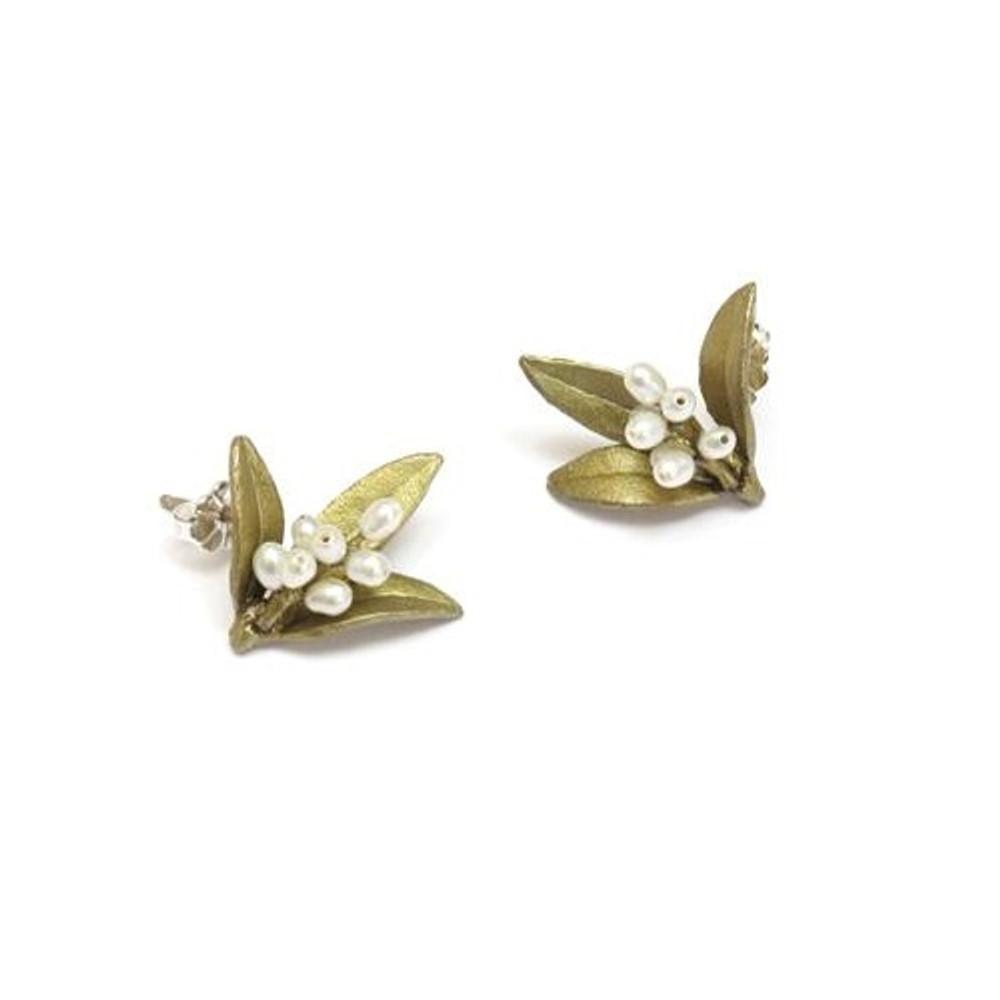 Flowering Myrtle Post Earrings | Michael Michaud Jewelry | SS4825bzwp