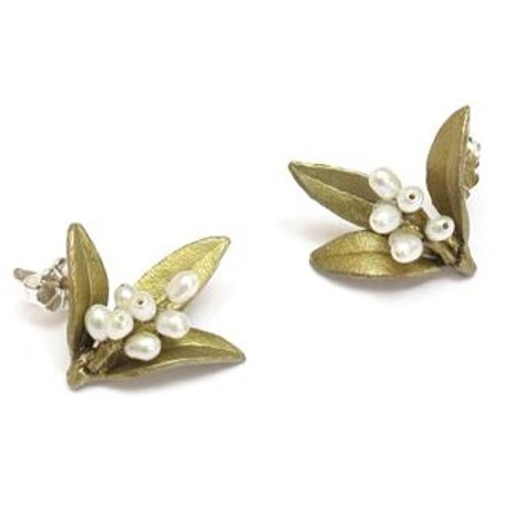 Flowering Myrtle Post Earrings | Michael Michaud Jewelry | SS4825bzwp -2