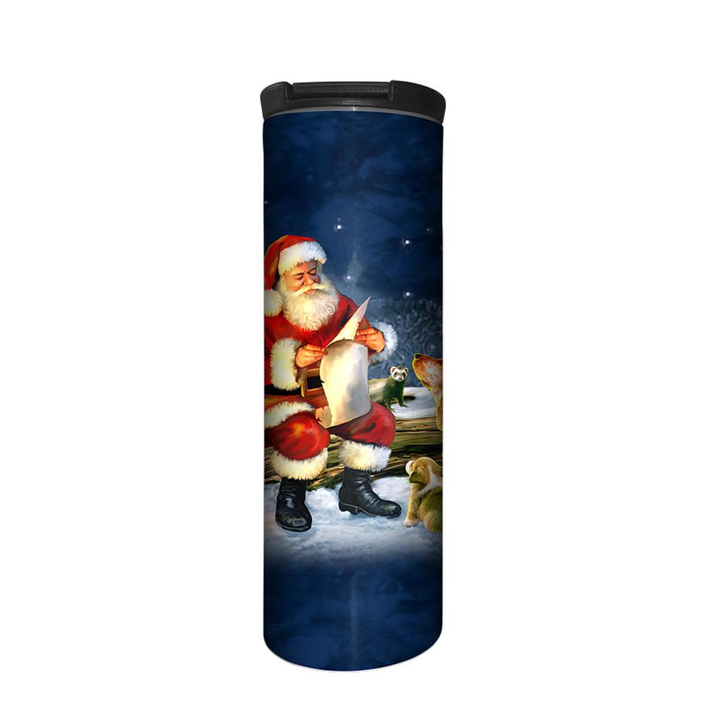 Santa's List Stainless Steel 17oz Travel Mug   The Mountain   5963841   Santa Travel Mug