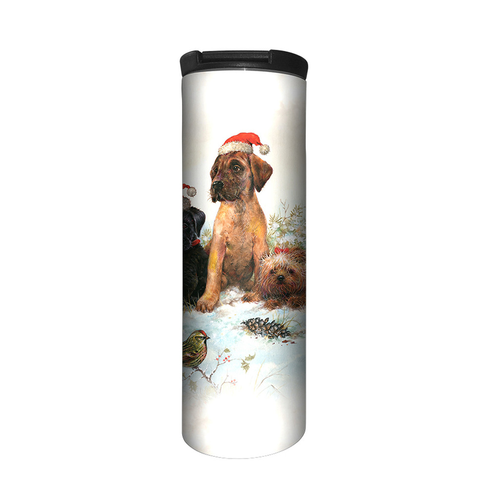 Christmas Pals Puppies Stainless Steel 17oz Travel Mug | The Mountain | 5963861 | Puppy Travel Mug