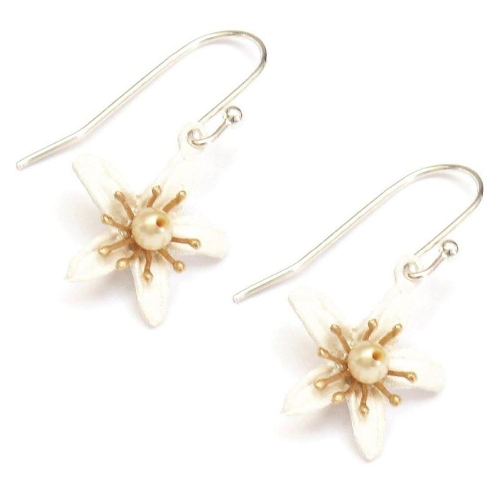 Orange Blossom Wire Earrings | Michael Michaud Jewelry | SS4832BZYP