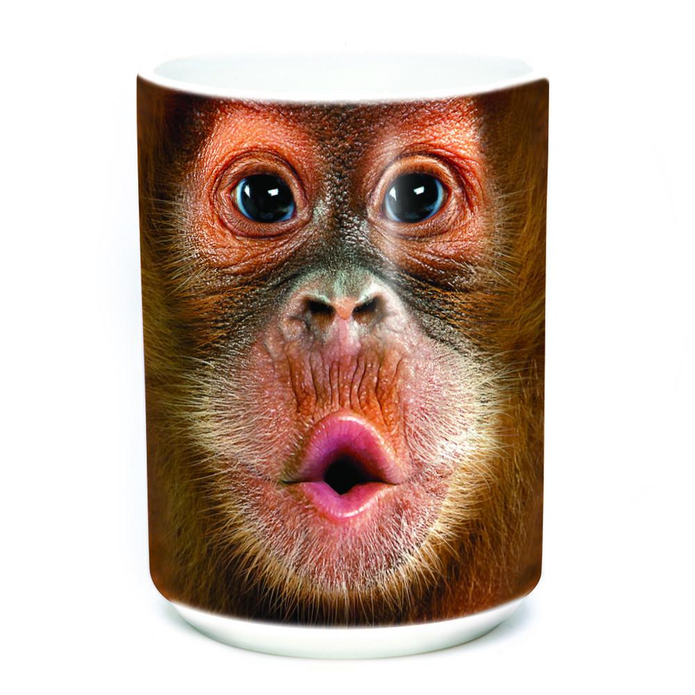 Baby Orangutan Face 15oz Ceramic Mug | The Mountain | 57358709011 | Orangutan Mug
