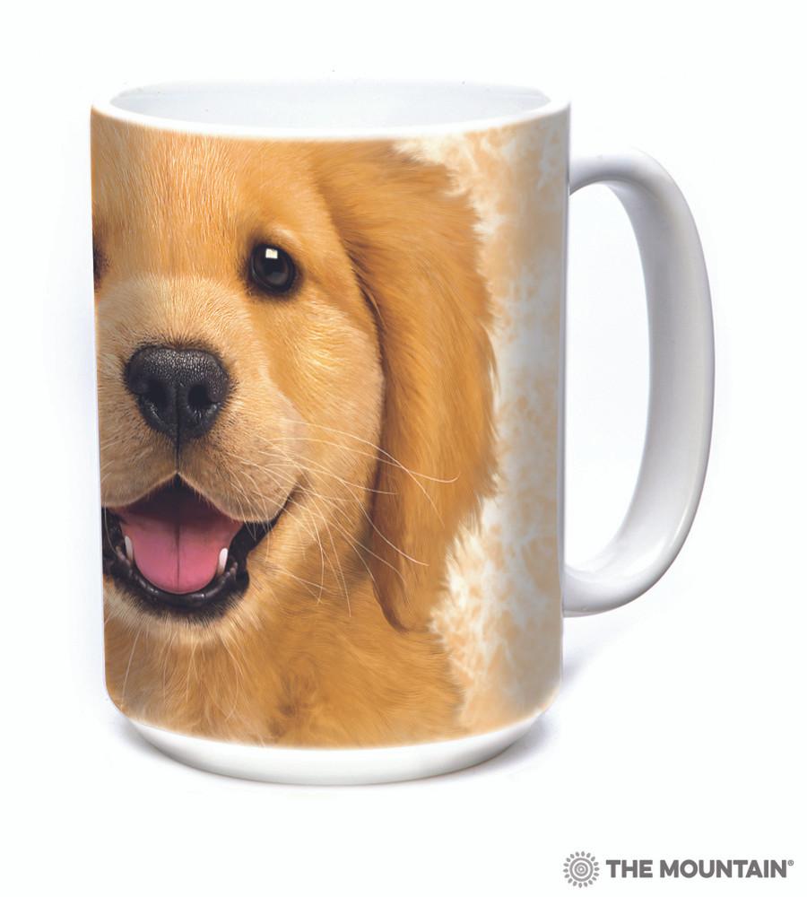 Golden Retriever Puppy Face 15oz Ceramic Mug | The Mountain | 57374309011 | Golden Puppy Mug