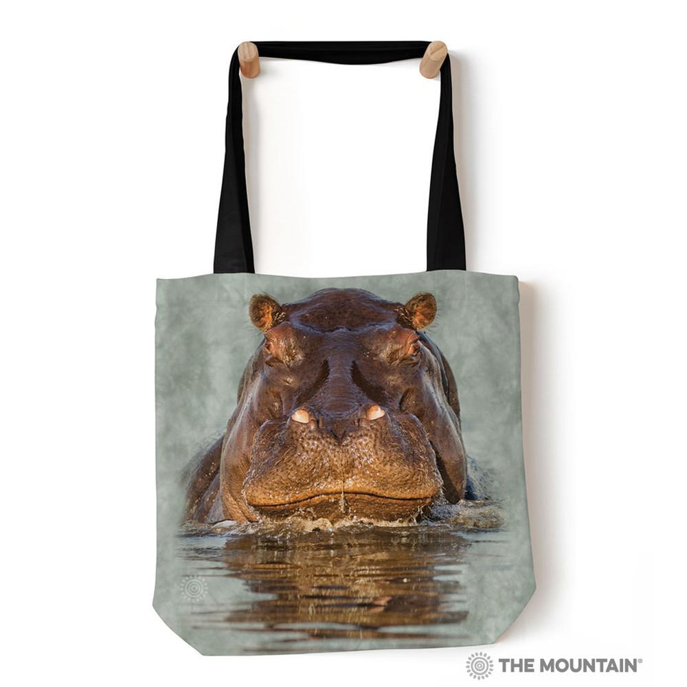 "Hippo 18"" Tote Bag | The Mountain | 9759602"