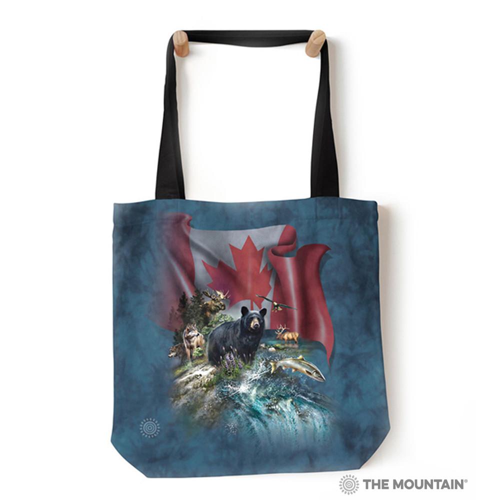 "Canada the Beautiful Wildlife 18"" Tote Bag   The Mountain   9785692"