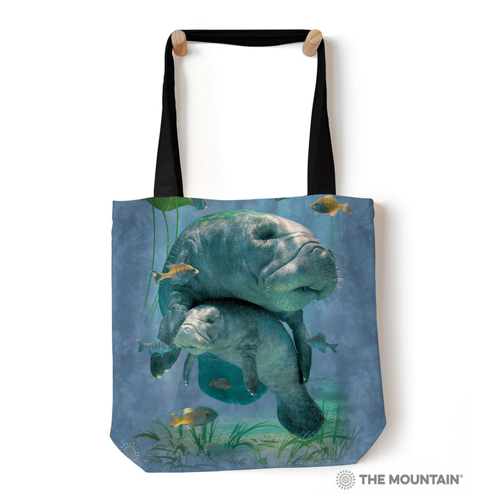 "Manatee Collage 18"" Tote Bag 