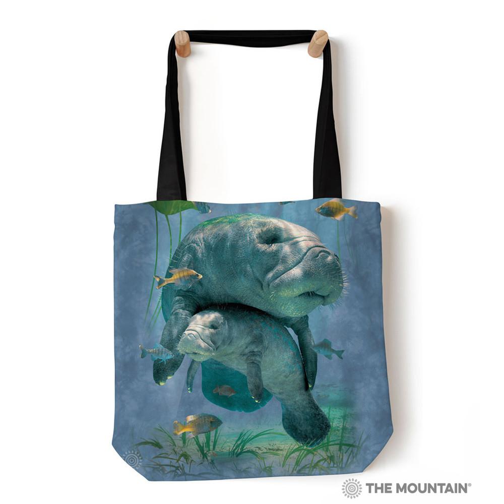 "Manatee Collage 18"" Tote Bag | The Mountain | 9759032 | Manatee Tote"