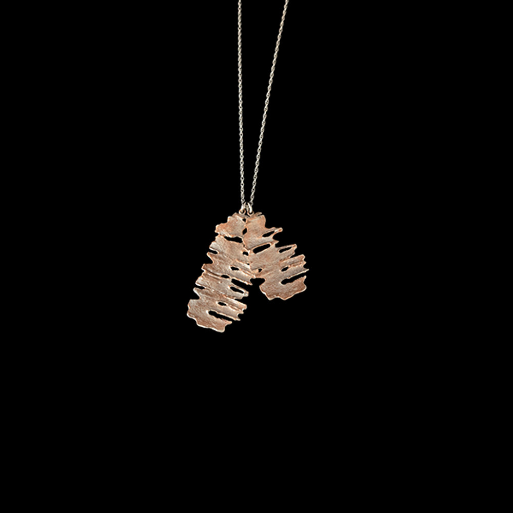 """Birch Sterling Silver 26"""" Two Layer Pendant Necklace 