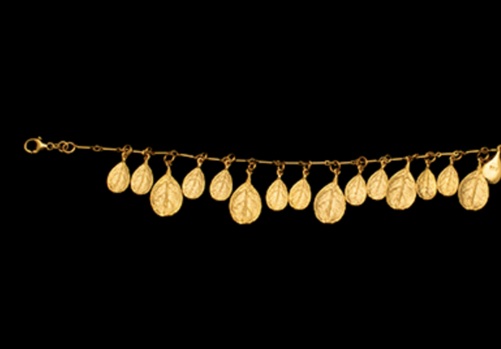 Bahamian Bay Leaf Gold Bracelet | Michael Michaud | 7246V | Nature Jewelry
