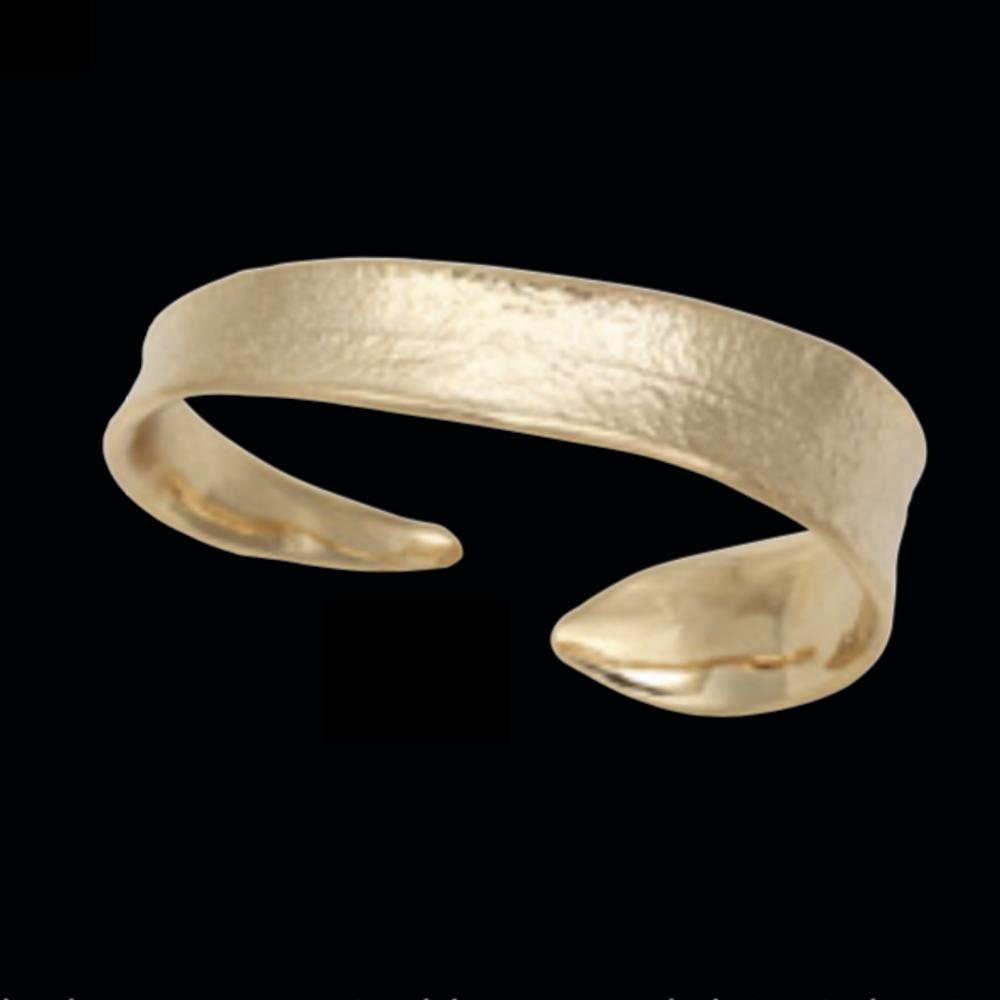 Eucalyptus Leaf Gold Cuff Bracelet | Michael Michaud | 7228V | Nature Jewelry