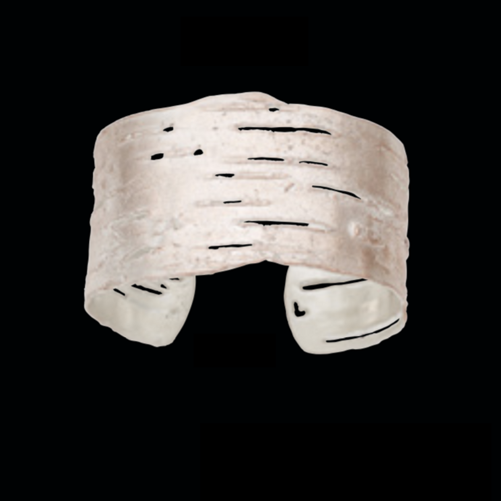 Birch Bark Gold Cuff Bracelet | Nature Jewelry | Michael Michaud | 7116V