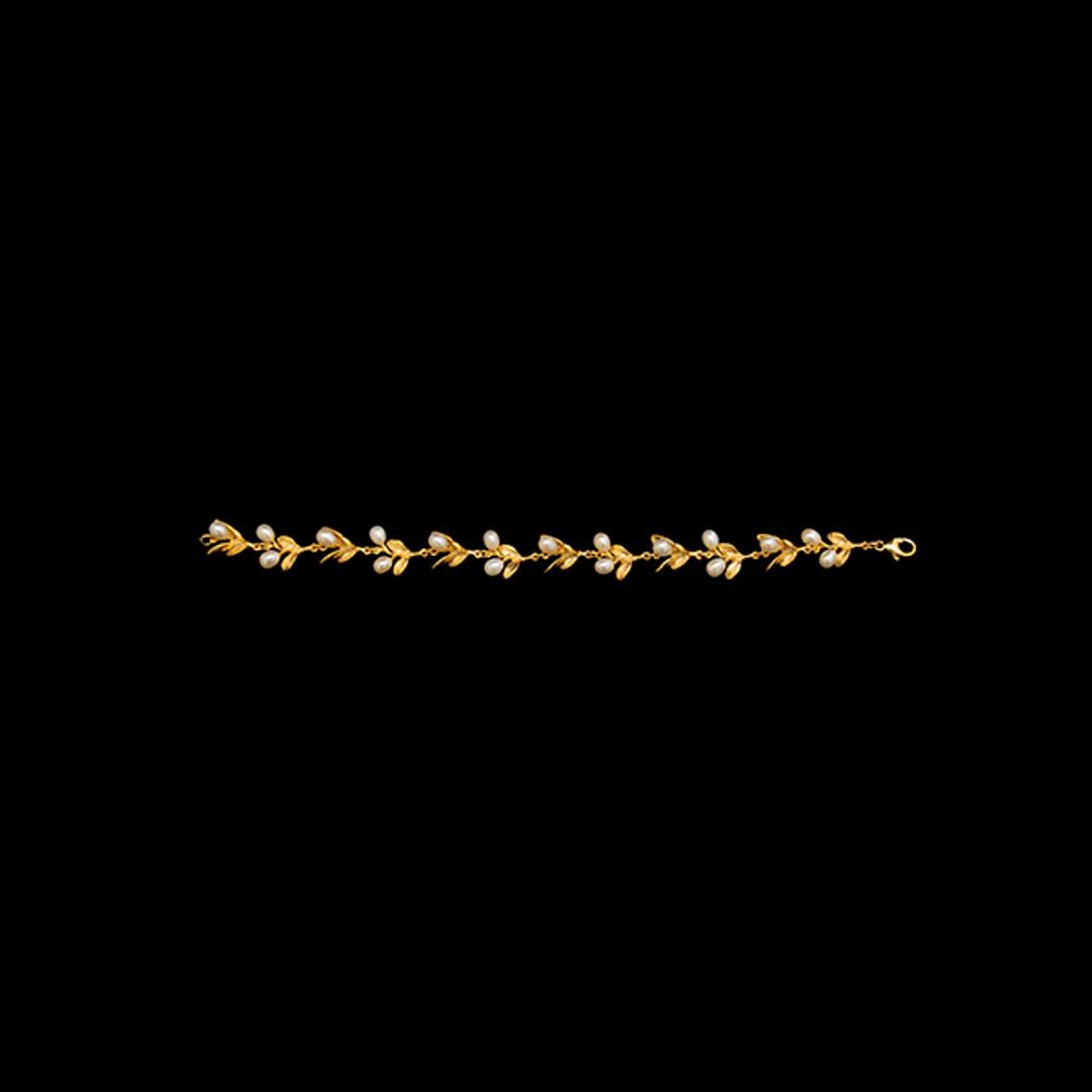 Boxwood Gold Freshwater Pearl Bracelet | Michael Michaud | 7037V | Nature Jewelry