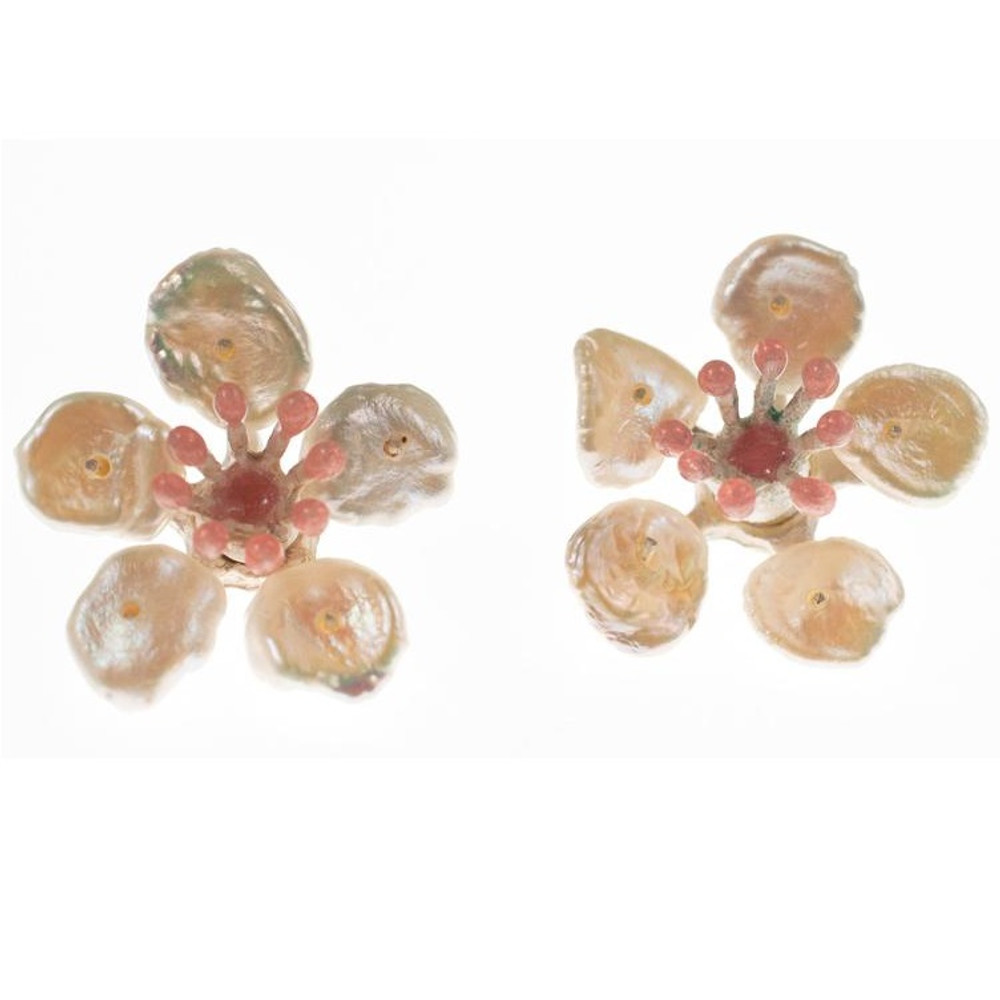 Cherry Blossom Post Earrings | Michael Michaud Jewelry | SS4888BZWP