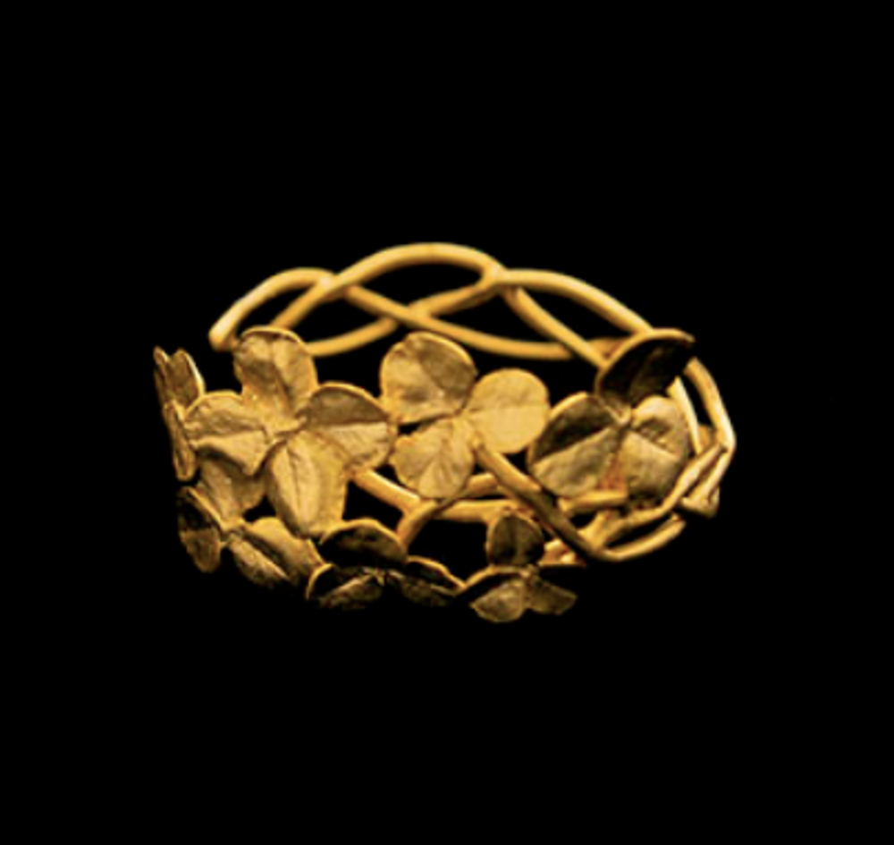 Clover Leaf Gold Cuff Bracelet | Michael Michaud | 7192V | Nature Jewelry