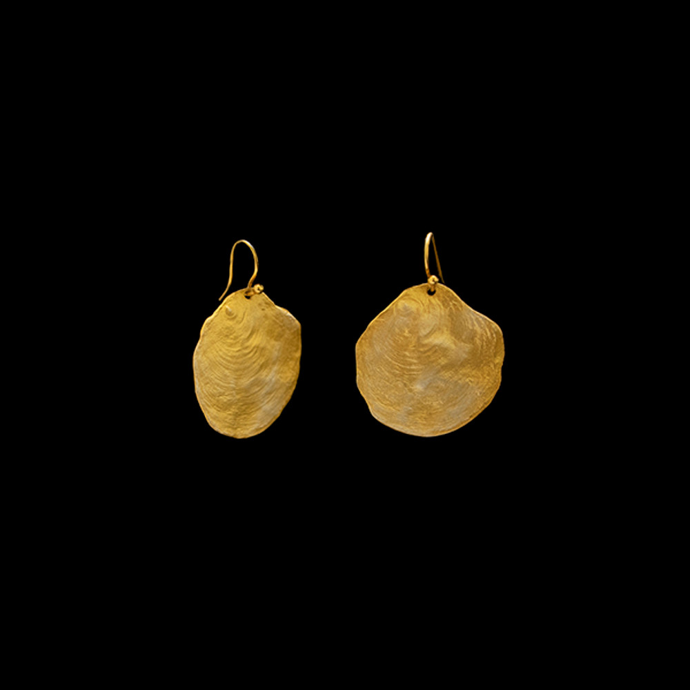 La Mer Gold Wire Earrings | Michael Michaud | 4621V | Nature Jewelry