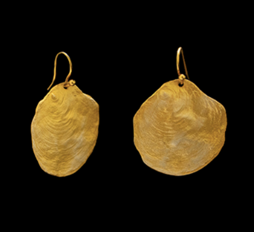 La Mer Gold Wire Earrings | Michael Michaud | 4621V | Nature Jewelry