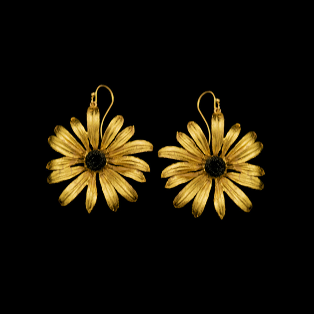 Black-Eyed Susan Wire Earrings   Michael Michaud   3566BZ   Nature Jewelry