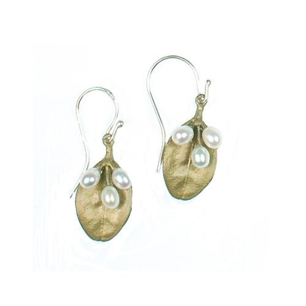 Boxwood 3 Pearl Wire Earrings | Michael Michaud Jewelry | SS4896BZWP