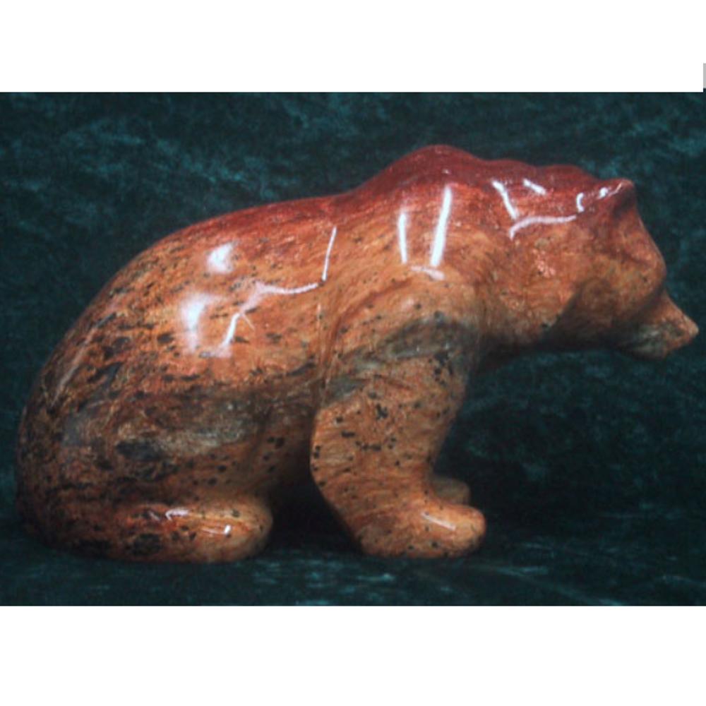 Bear Sitting on All Fours Soapstone Sculpture | Douglas Creek | 1050-8