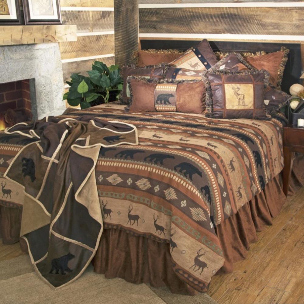Autumn Trails Deer Bear King Bedding Set | Carstens | JB4142-5