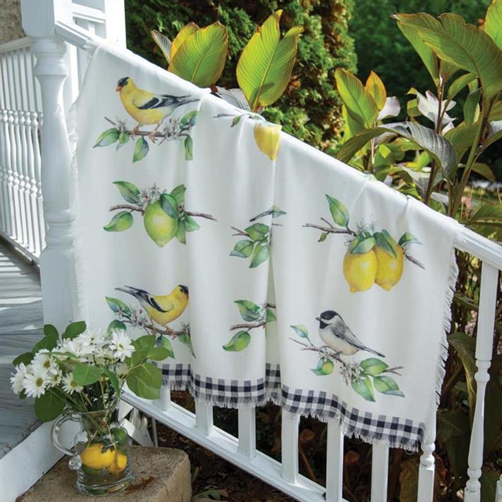 """Bird Poly Throw """"Grove Song"""" Blanket   SASGS"""