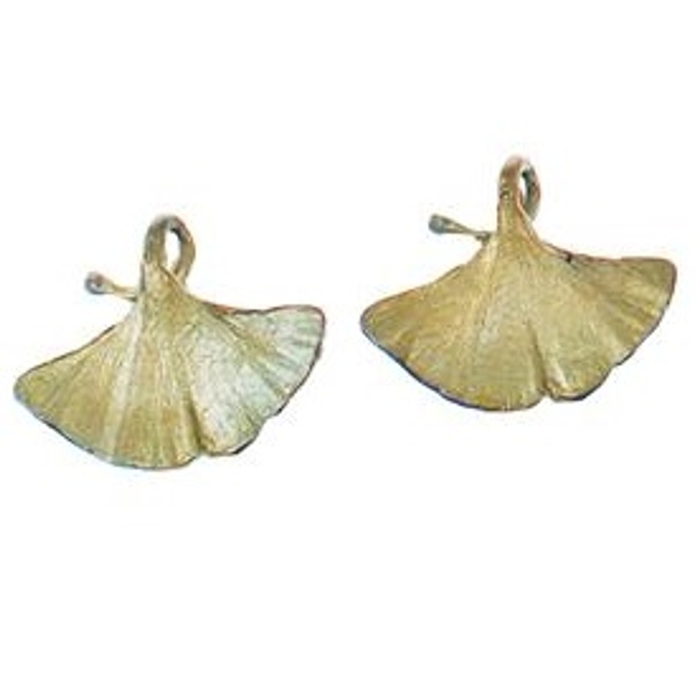 Gingko Clip Earrings | Michael Michaud Jewelry | SS4917BZ -2